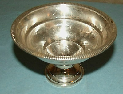 "Sterling Silver Compote / Candy Dish; 4 1/2""D by 2 3/4""H; Columbia"