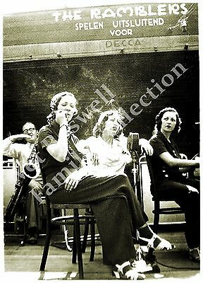 Boswell Sisters Rehearsing w/The Ramblers 1933 5x7 matted to 8x10 T38