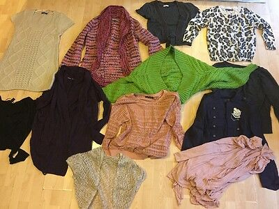 Size 10/ S Womens Winter/ Cardigans Bundle In VGC Next, Debenhams, Topshop, M&S