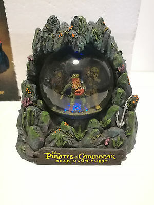 """Pirates Of The Caribbean """" Dead Man's Chest """" - Collectors Edition Water Globe"""