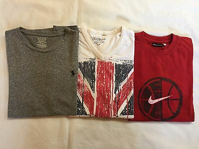 Ralph Lauren / Nike / Guess MEN'S LOT OF 3 GRAPHIC T.SHIRTS - SMALL