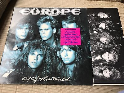 """Europe - Out Of This World 12"""" Lp Holland Epic 88 + Inner Hard Rock"""
