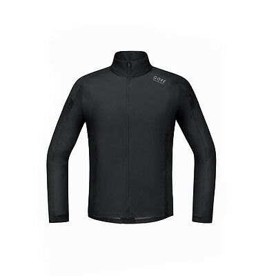Gore Running Air Windstopper Soft Shell Shirt Long Black Laufjacke Schwarz