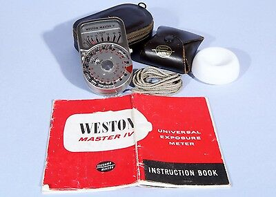 Western Master IV Universal Exposure Meter * Cased with Instructions, Invercone