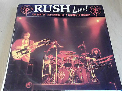 "Rush - Live! 1981 12"" Tom Sawyer Red Barchetta A Passage.. Exit 12 Classic Rock"