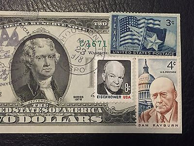 Rare 1976 $2 Two Dollar Bill Note (Stamp AUG 23,1978) Birthday,Uncirculated