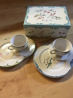 Haute Shoes Tea for Two Gift Idea Cups & Saucers