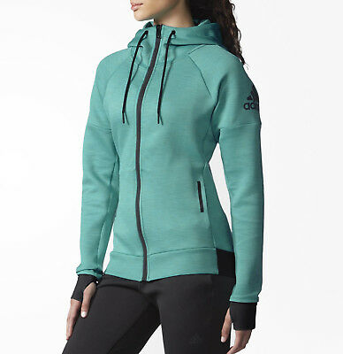 adidas Daybreaker Full Zip Ladies Running Hoody - Green