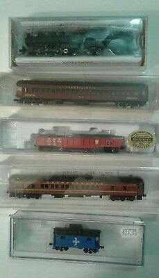 Train Lot N Scale Bachman Locomotive Bowser Walthers Model Power Micro Set