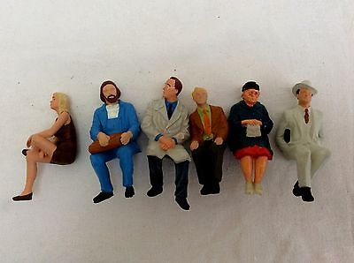 PREISER  G Gauge Figures -  Group of 6 seated passengers (E)