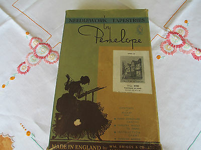 Vintage Penelope / Briggs Firescreen or Panel Tapestry Kit. Small Part Completed