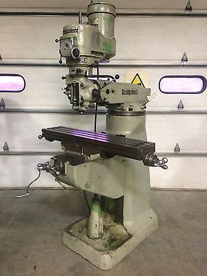 "Bridgeport 9""x42"" Milling Machine R-8 Variable Speed 1.5HP Knee Type"