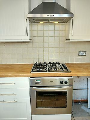 4 burner Gas Hob & Extractor - Stainless
