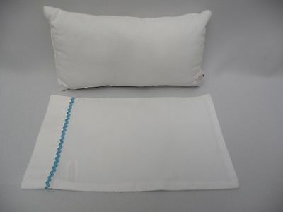 American Girl Doll Pillow  with pillowcase bed Replacement part ~  white