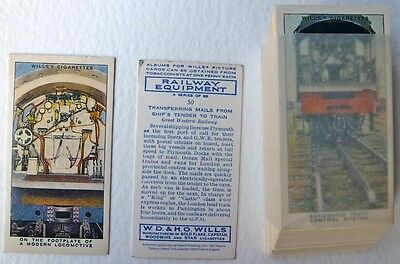 Wills Railway Equipment Set Of 50 Cigarette Cards.