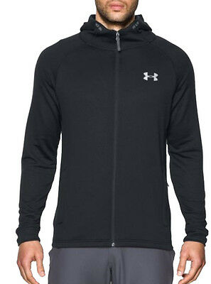 Under Tech Terry Fitted Full Zip Mens Hoody - Black