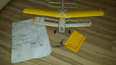 Almost complete vintage radio control model aircraft GIGI by D G Thomas