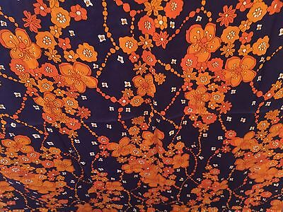 Vintage Fabric-Unused-1960s-Retro-Large-Over 3 Meters