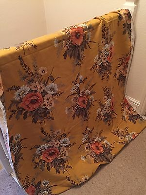 Vintage Jonelle Fabric-Unused-Florsl-Chichester-French Mustard-Unused
