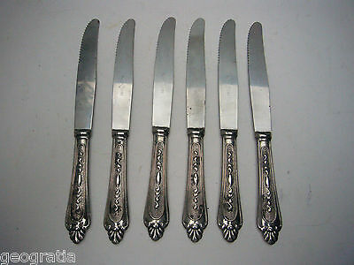 Super Inox 800 Silver Plate Knives Set of 5