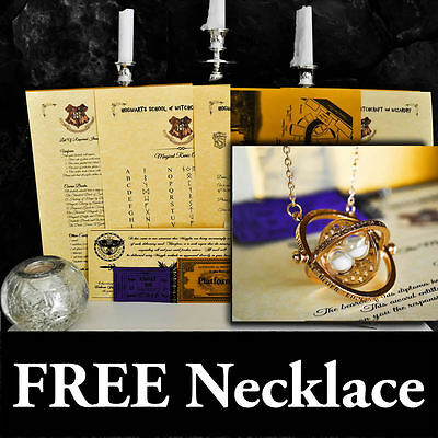 Personalised Harry Potter Acceptance Letter Marauders Map Time-Turner Necklace