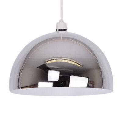 Modern Chrome Metal Arco Style Ceiling Pendant Light Lamp Shade Lampshade Lights