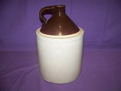 Stoneware Crock Moonshine/Whiskey Shoulder Jug W/Handle In Good Used Condition