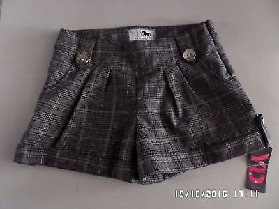 New With Tag Yd Girls Brown Tweed Shorts 7 - 8 Years