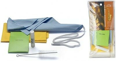Stagg Saxophone Care Kit - Includes Swab, Mouthpiece Brush, & Cork Grease