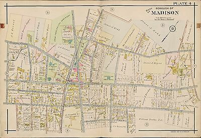 1910 Madison, Morris Twp, New Jersey, Central Ave. School, Copy Plat Atlas Map
