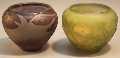 A small pair of authentic Emile Gallé vases or bowls