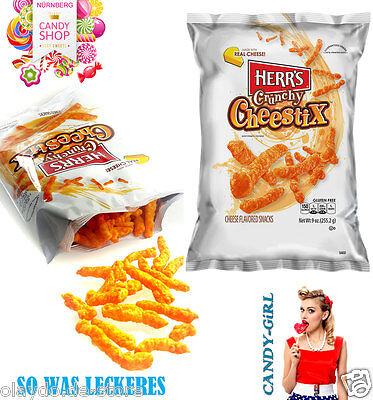 NEU!!! Herr's Crunchy Cheestix Cheese Flavored Snacks Real Chees and Fresh