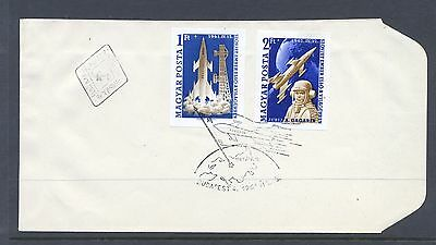 Hungary 1961 SG  1732-3  Space Flight  Imperf  on  FDC