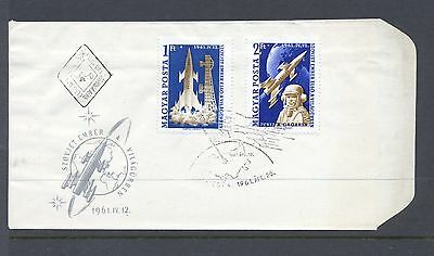Hungary 1961 SG  1732-3  Space Flight  perf on  FDC