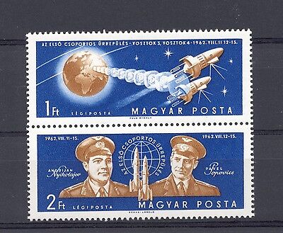 Hungary 1962 SG 1835-6 Team Manned Space Flight  MNH