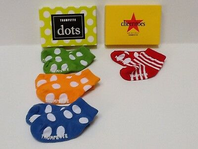 Trumpette Baby Socks Girls/Boys  Dots 3 pairs-Cheeritoes 1 pair  0-12 Months