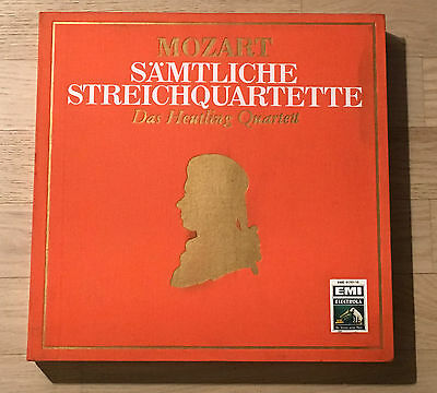 HEUTLING QUARTET string qts MOZART 1stPress 1960s w/g ELECTROLA 10LP Box MINT