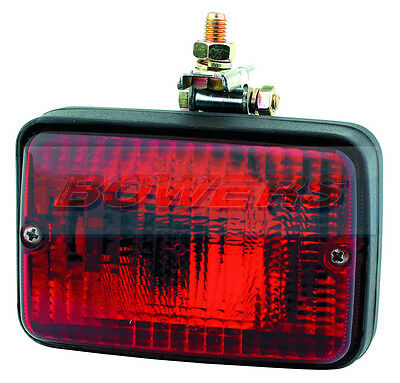 Britax 738 Rectangular Rear Fog Lamp Light With Bracket Car Caravan Trailer