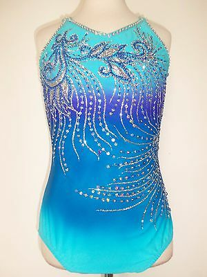 New Ice Skating Baton Twirling Leotard Costume Adult S