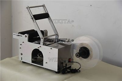 Semi-Automatic Round Bottle Labeler Labeling Machine New Bg U