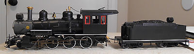 SPECTRUM On30 SCALE PAINTED UNLETTERED 4-6-0 LOCO W/DCC & SOUND--ITEM #28901-NEW