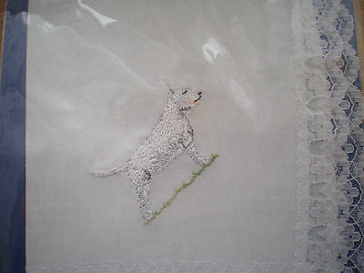 Bull Terrier Handkerchief New in Sealed Pack by Dogmania