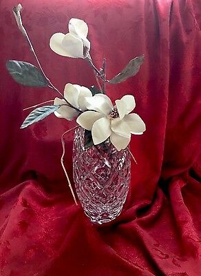 NEW FLAWLESS Exceptional HOYA JapanArt Glass Crystal VASE Heavy DIMPLE Design
