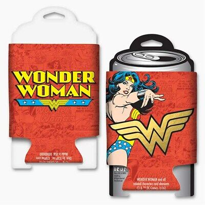 Wonder Woman Foil Koozie Red