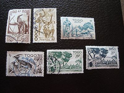 TOGO - timbre yvert et tellier n° 240 243 247 248 251 252 obl (A33) stamp (T)
