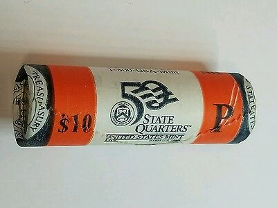 2000-P New Hampshire Clad State Quarter Mint Roll of 40 BU Coins!