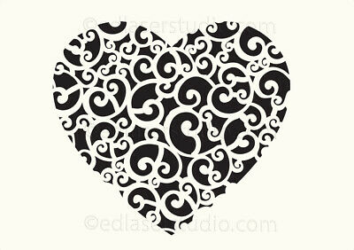 Love Heart Stencil Various size Template Paint Furniture Card making Crafts TE65