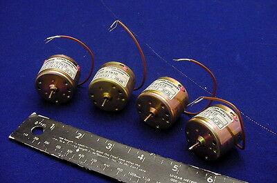 4 New Canon High Speed - High Power Low Voltage Dc Servo Motors For Hobby, More!