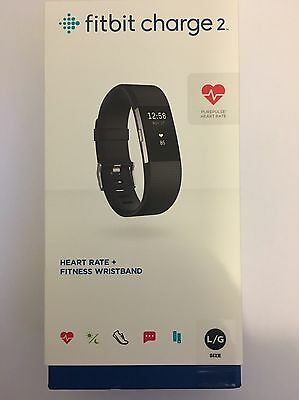 Fitbit Charge 2 Heart Rate and Fitness Wrist Band Running Sleep Tracker Black