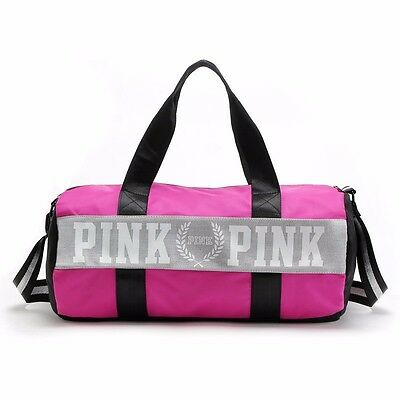 New Victoria's Secret PINK Gym Duffle Tote Purple Maroon Orchid Bag NWT